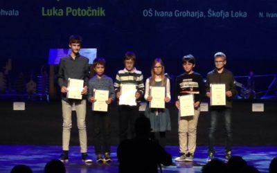 PODELITEV nagrad najuspešnejšim tekmovalcem v tekmovanju iz matematike