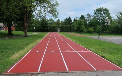 Obnovili smo stezi za tek v športnem parku za matično šolo