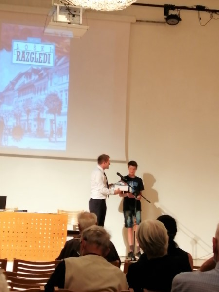 Podelitev 1. nagrade Muzejskega društva Škofja Loka
